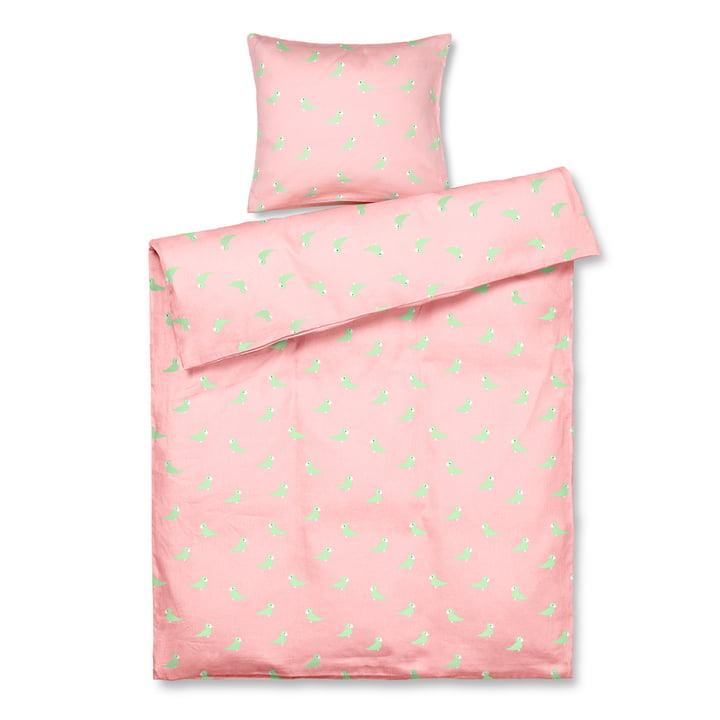The Songbird children's bed linen from Kay Bojesen , 100 x 140 cm, pink