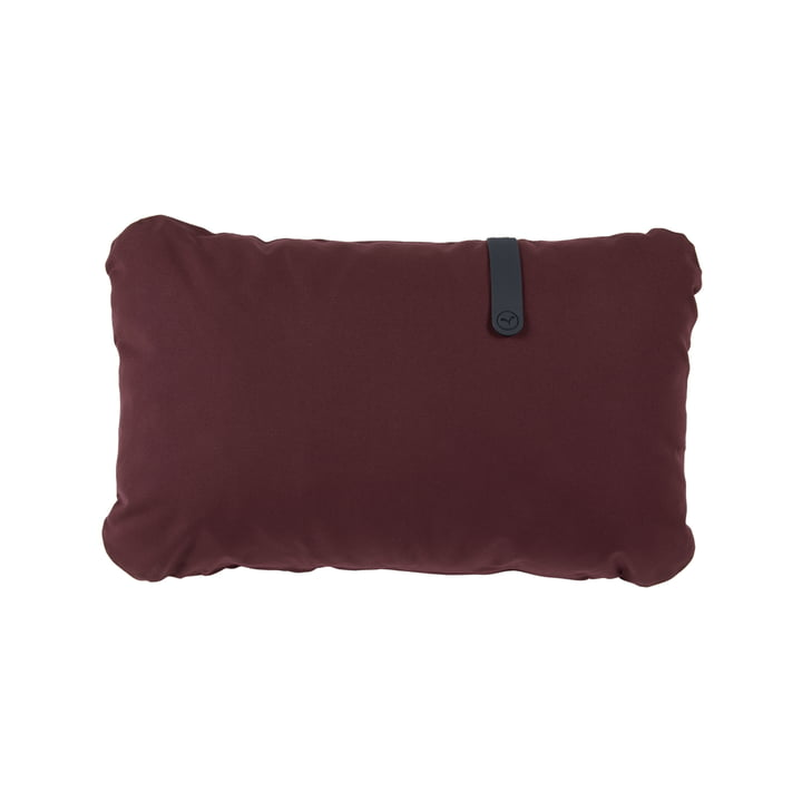The Color Mix Outdoor cushion by Fermob, 44 x 68 cm, wine red