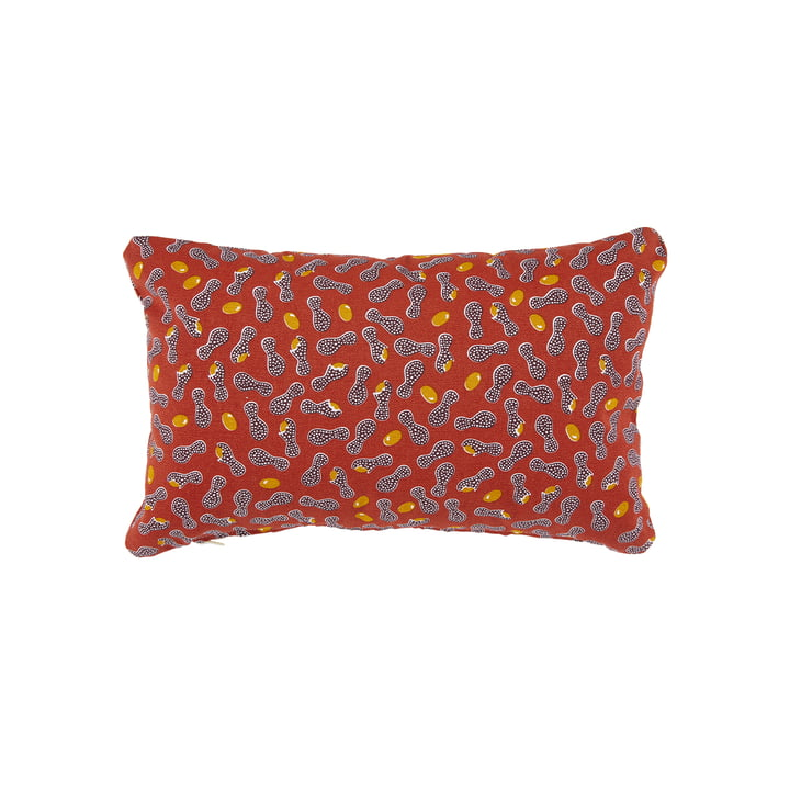 The Cacahuetes outdoor cushion by Fermob, 30 x 44 cm, ochre red