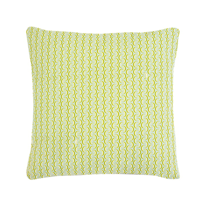 The Bananes cushion by Fermob, 70 x 70 cm, opal green