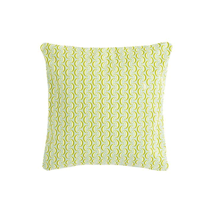 The Bananes cushion by Fermob, 44 x 44 cm, opal green