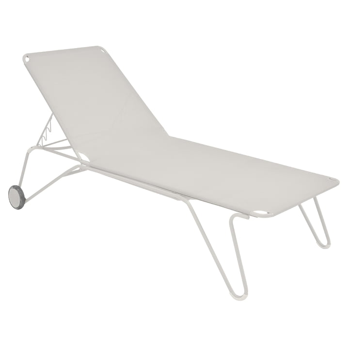 The Harry sun lounger from Fermob, clay grey