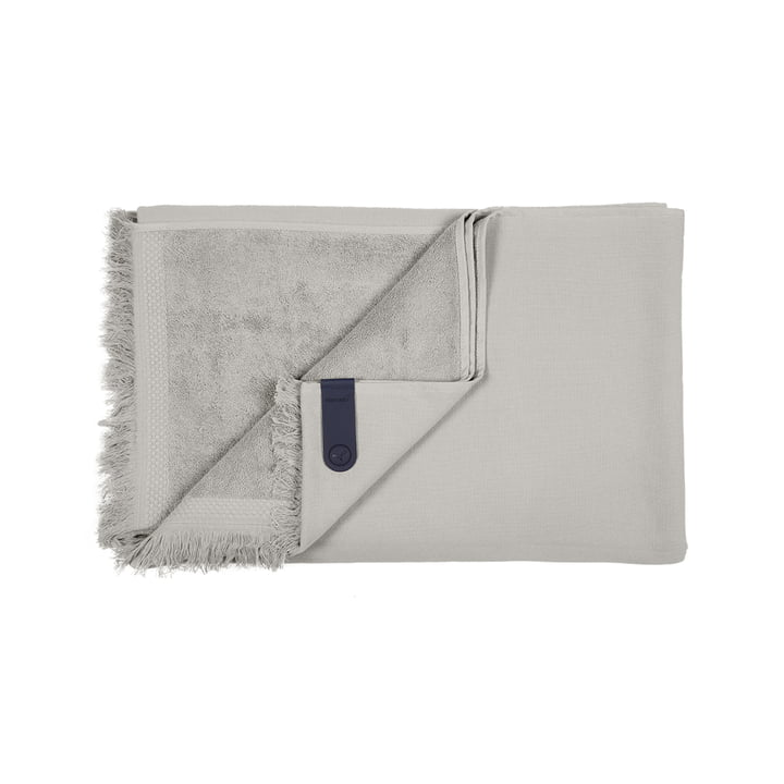 The Fouta towel by Fermob, 100 x 200 cm, pebble grey
