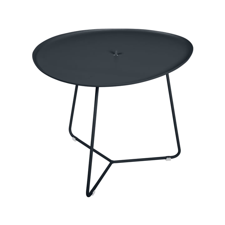 The Cocotte low table by Fermob, h 43.5 cm, anthracite