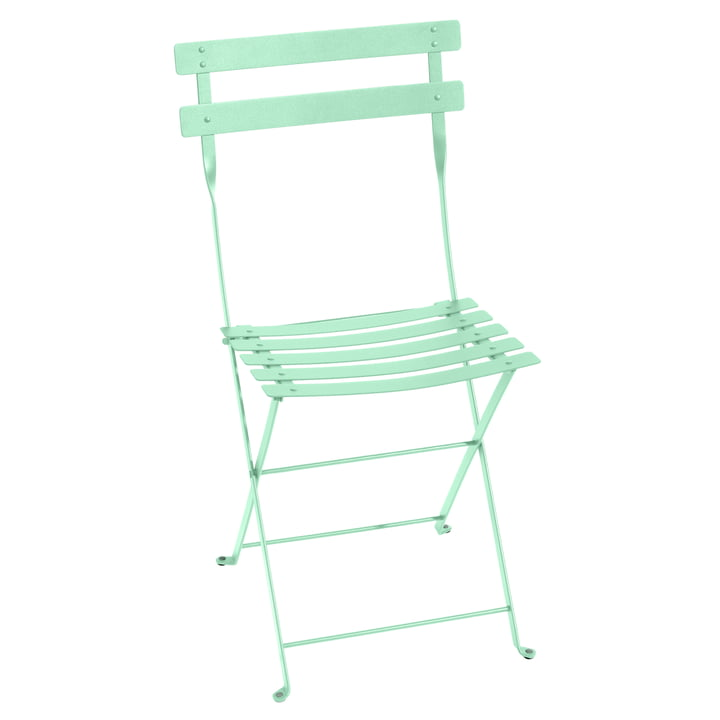 The Bistro Folding chair metal by Fermob, opal green
