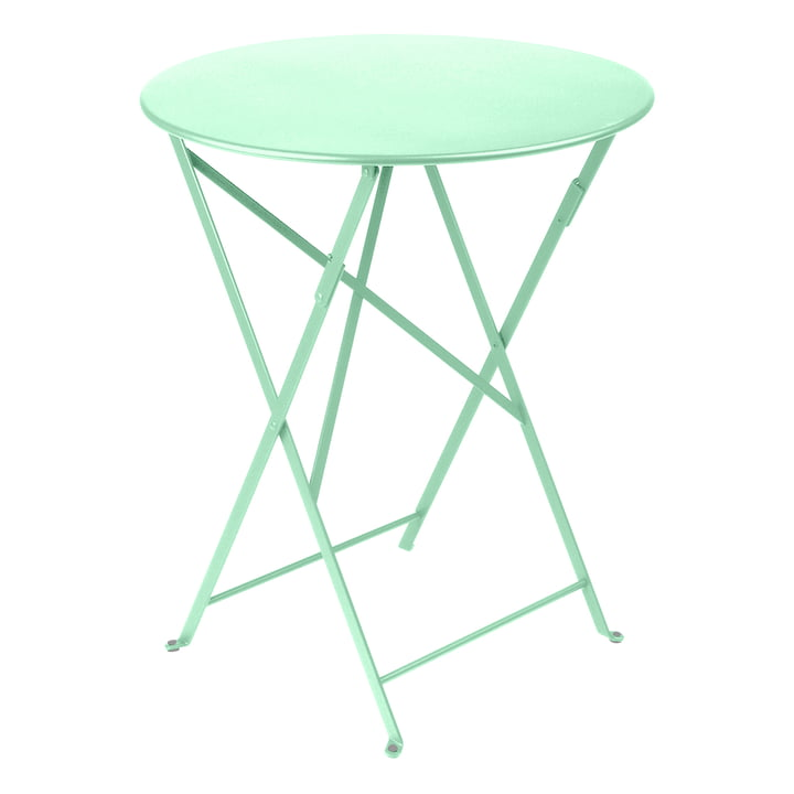 The Bistro folding table by Fermob, Ø 60 cm, opal green