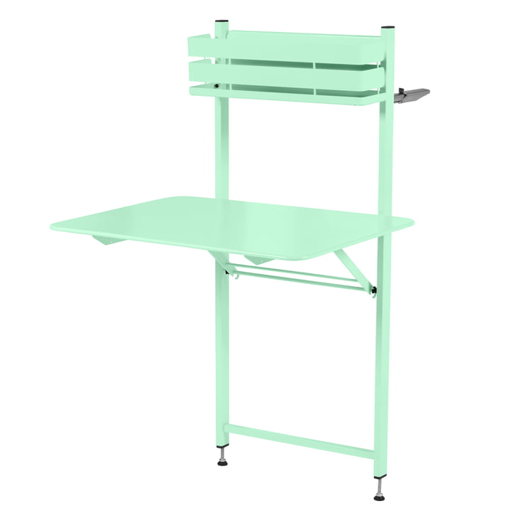 The Bistro Balcony table from Fermob, opal green