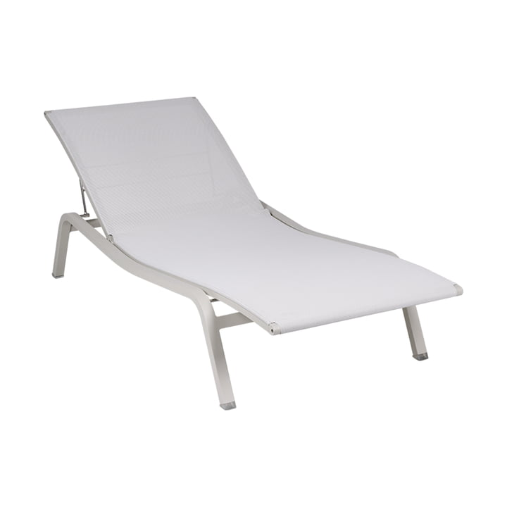 The Alize sun lounger adjustable by Fermob, clay grey