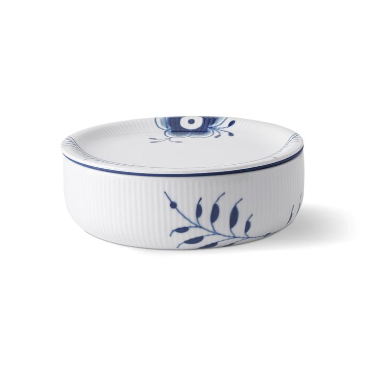The Mega Blue Ribbed Storage Jar from Royal Copenhagen , 140 cl