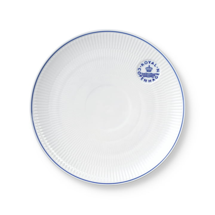The Blueline Coupe plate from Royal Copenhagen , 23 cm