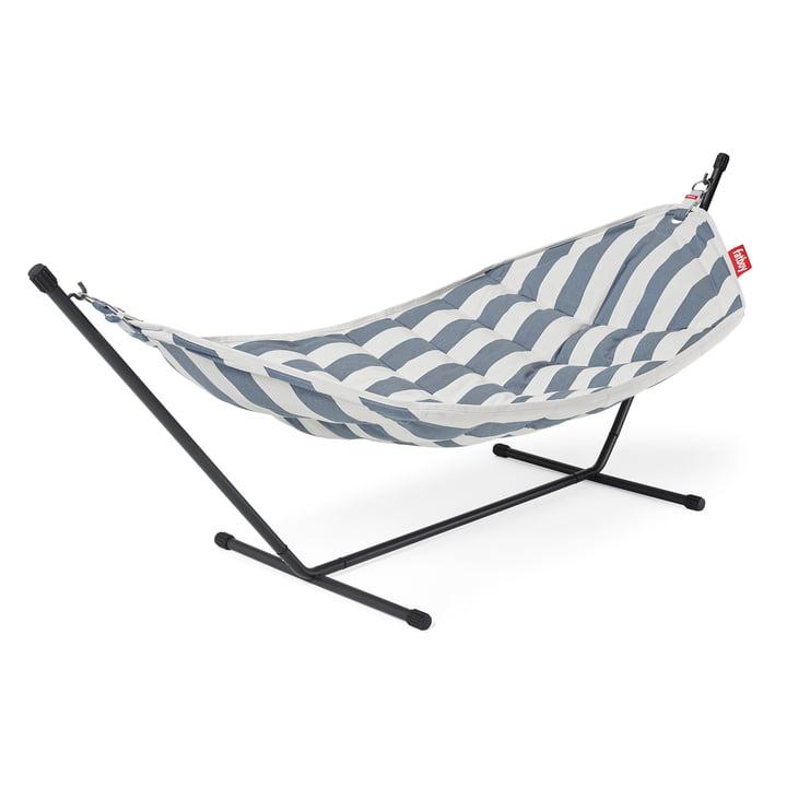 The Headdemock Superb hammock from Fatboy , braced, ocean blue