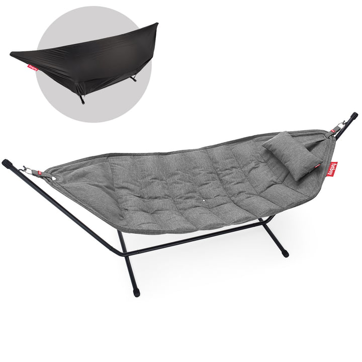 The Headdemock Superb Deluxe Hammock from Fatboy , stone grey