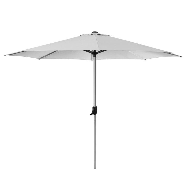 The Sunshade parasol from Cane-line , Ø 300 cm, light grey