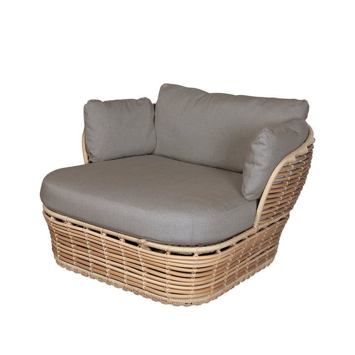 The Basket lounge chair Outdoor from Cane-line , natural / taupe