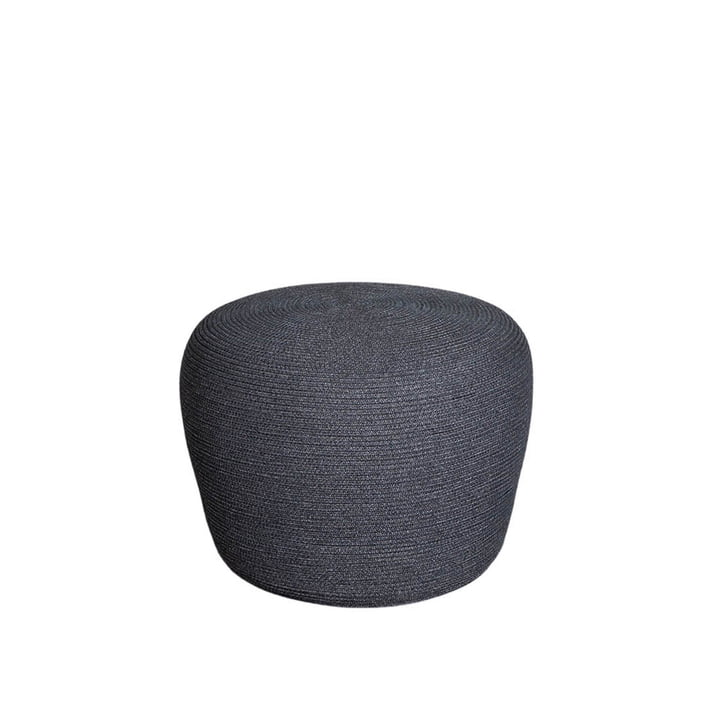 The Circle footrest Outdoor from Cane-line , Ø 52 cm, dark grey