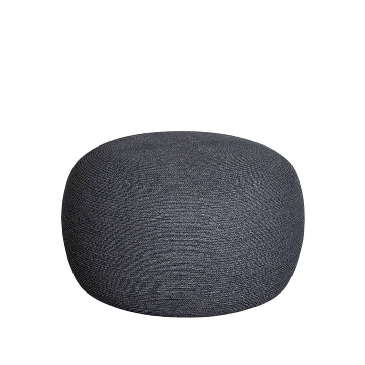 The Circle footrest Outdoor from Cane-line , Ø 75 cm, dark grey