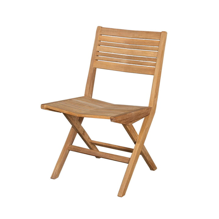 The Flip folding chair Outdoor from Cane-line , teak nature