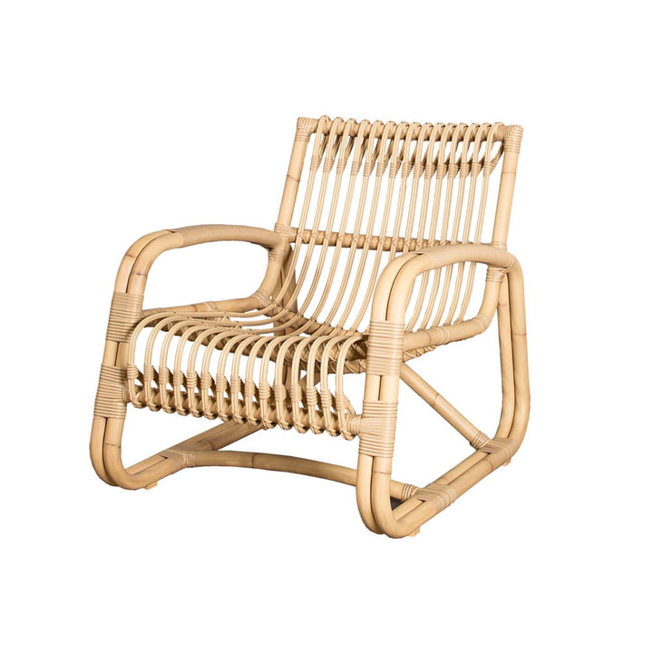 The Curve lounge chair Outdoor from Cane-line , natural