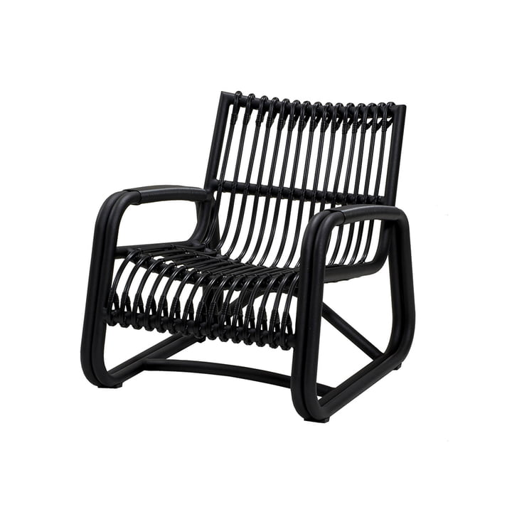 The Curve lounge chair Outdoor from Cane-line , lava grey