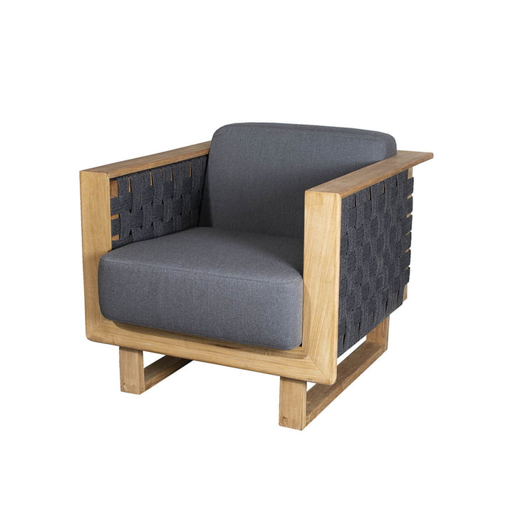 The Angle Lounge armchair Outdoor from Cane-line , dark grey