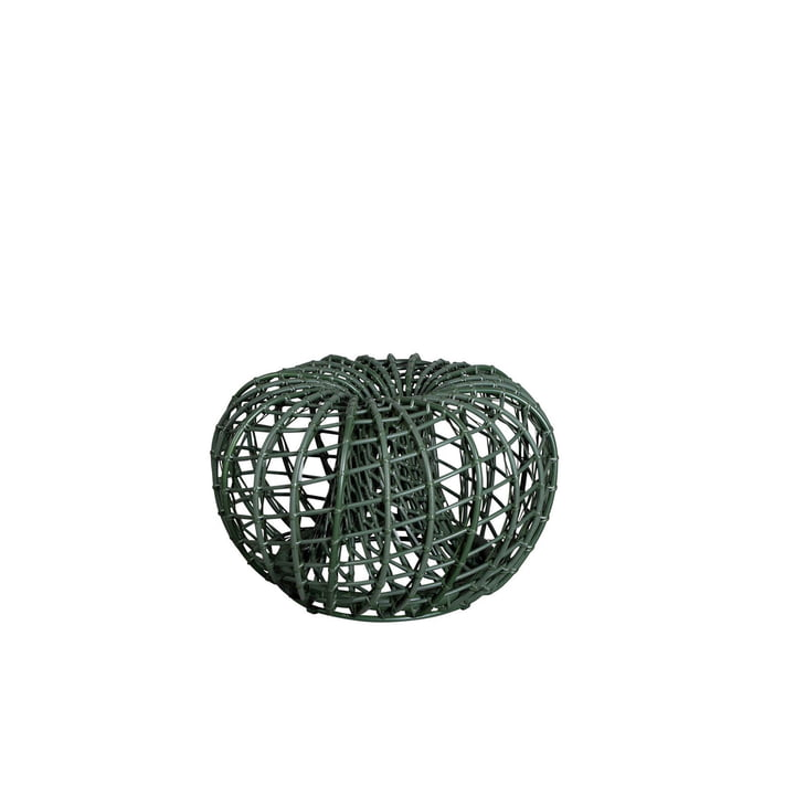 The Nest stool / side table Outdoor from Cane-line , Ø 67 cm, dark green