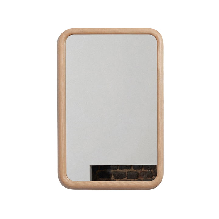 The R40 S wall mirror from OWL , 60 x 40 cm, ash nature