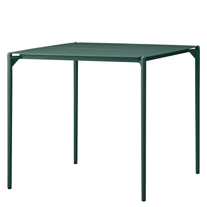 The Novo table from AYTM , 80 x 80 cm, forest