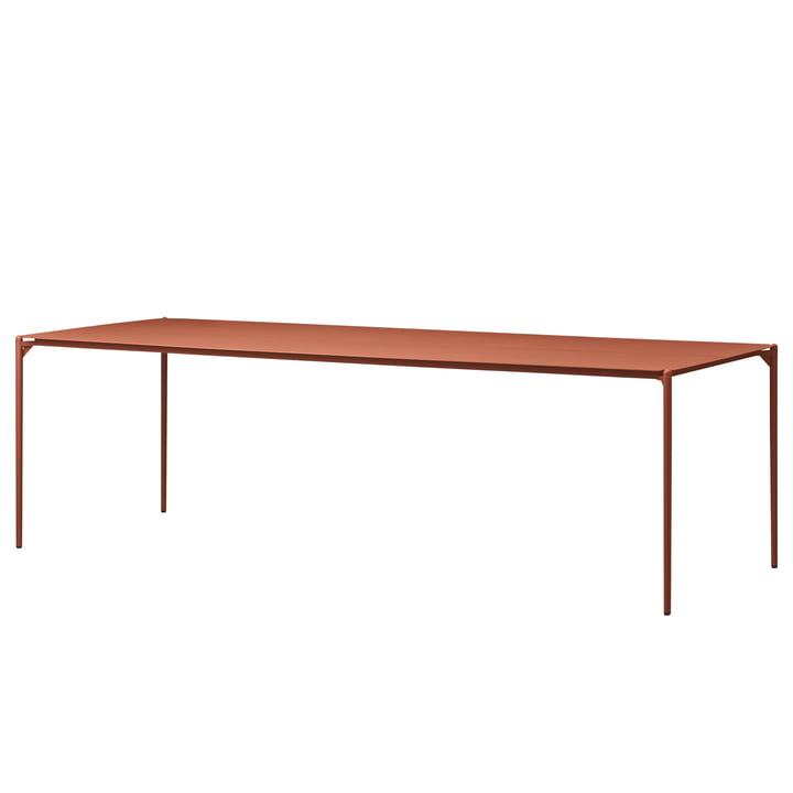 The Novo table from AYTM , 90 x 240 cm, ginger bread