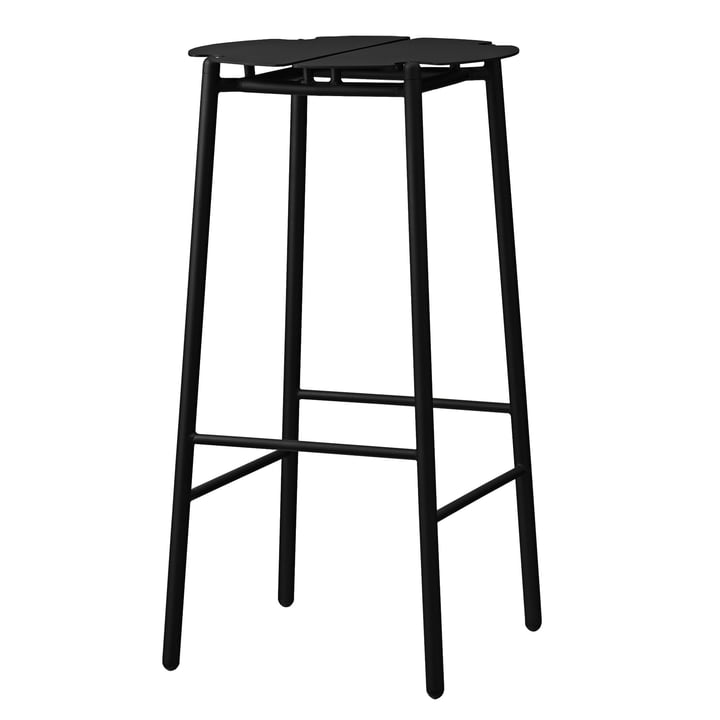 The Novo bar stool from AYTM , H 75 cm, black