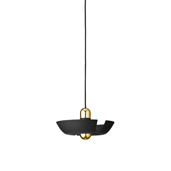 The Cycnus pendant lamp from AYTM , Ø 30 cm, black / gold