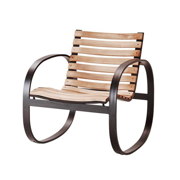 The Parc rocking chair Outdoor from Cane-line , lava grey