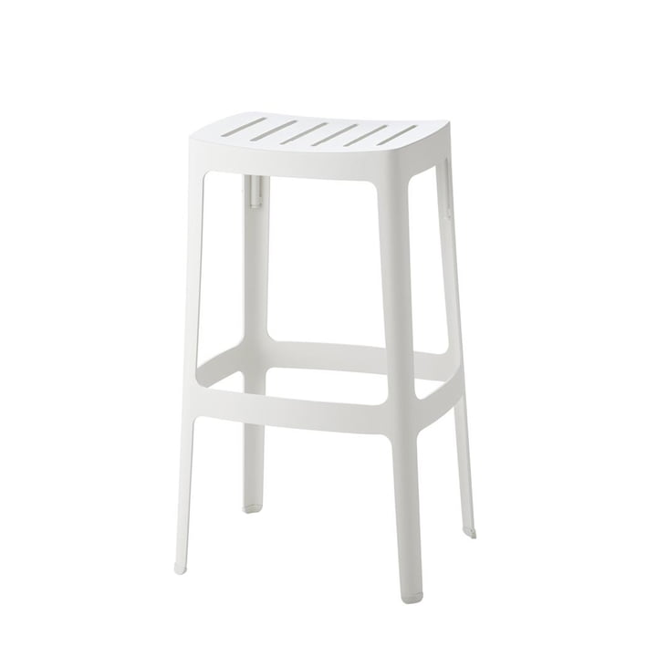 The Cut bar stool from Cane-line , high, white