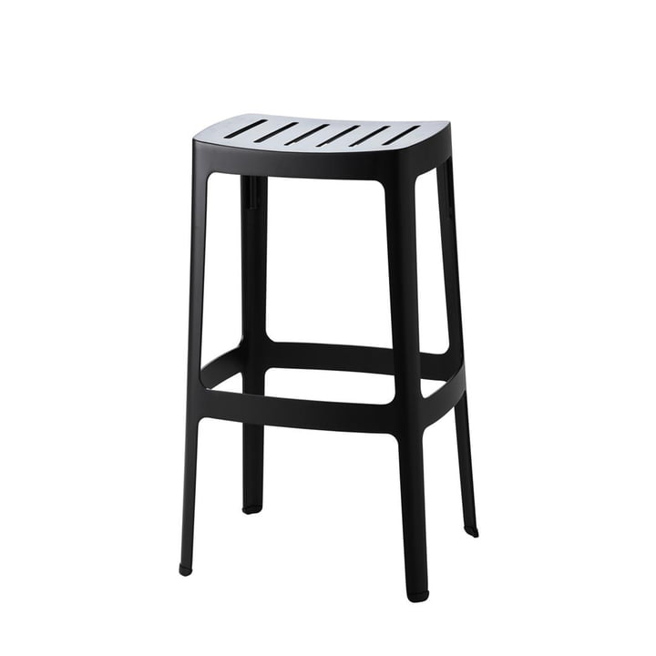 The Cut bar stool from Cane-line , high, black