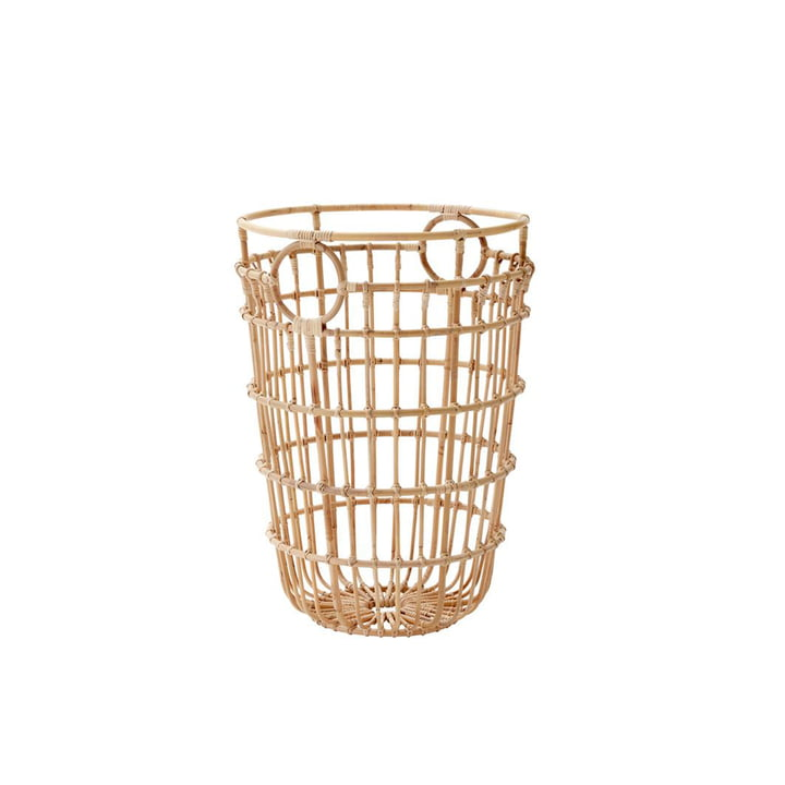 The Carry Me basket from Cane-line , high, Ø 46, natural