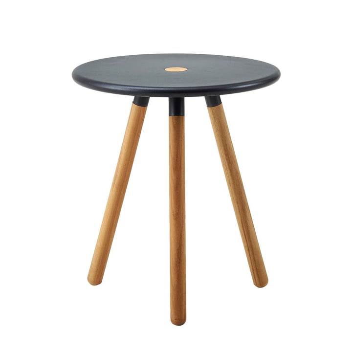 The Area stool from Cane-line , Ø 40 cm H 46,5 cm, lava grey