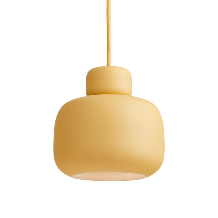 Stone Pendant lamp Ø 16 cm from Woud in mustard