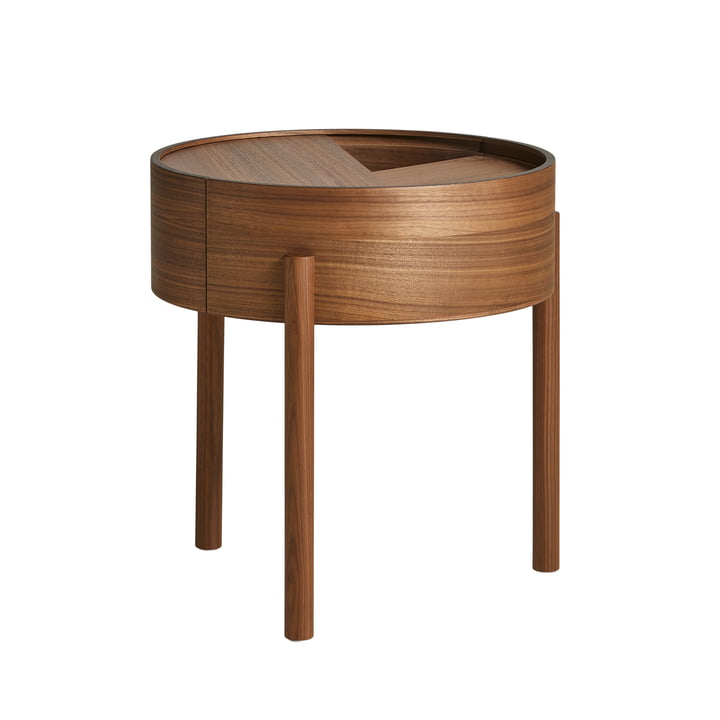 Arc Coffee table Ø 42 cm H 45 cm from Woud in walnut lacquer finish