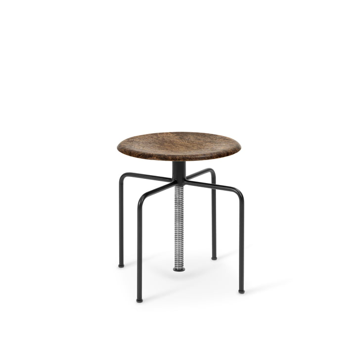Mask Stool, black / natural oak from Mater