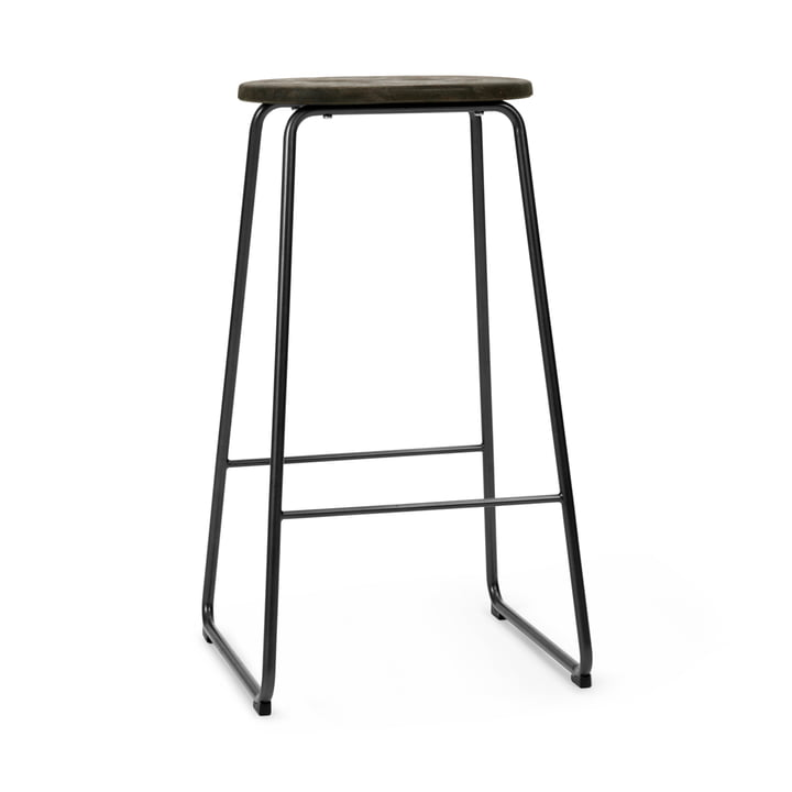 Earth Bar stool, H 74 cm, Plastic Waste Edition by Mater
