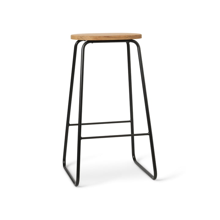 Earth Bar stool, H 69 cm, black / natural oak from Mater