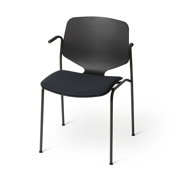 Nova Sea Armchair with seat cushion, black from Mater