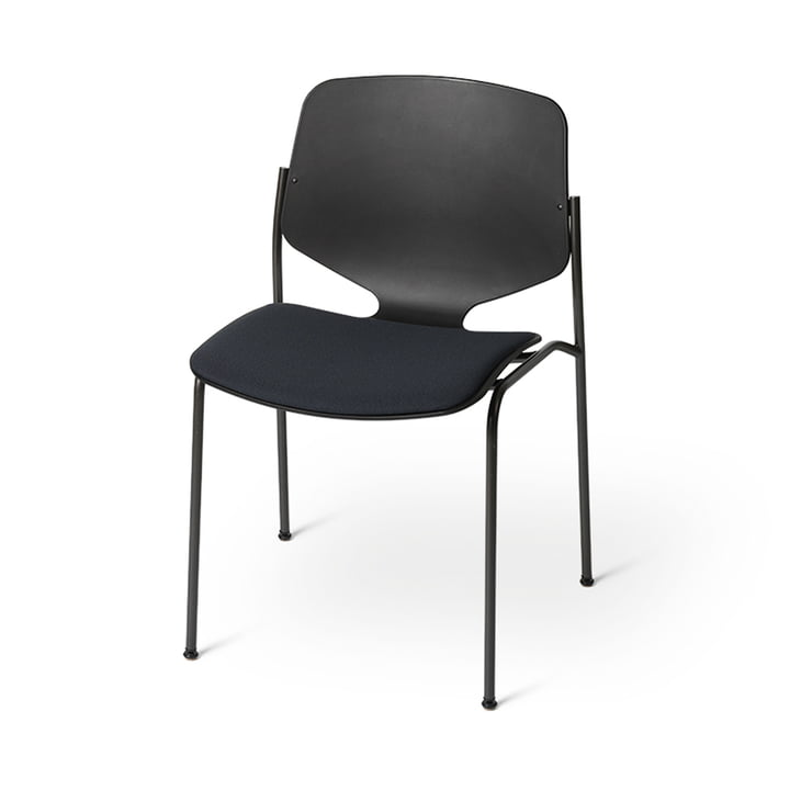 Nova Sea Chair with seat cushion, black from Mater
