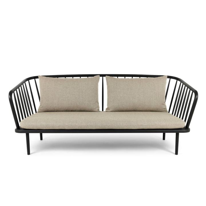 Mollis Sofa, black / brown-grey from Mater