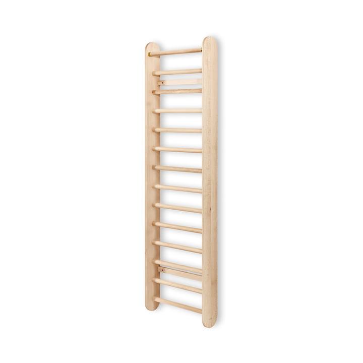 Locus Ladder / wall coat rack, matt lacquered beech from Mater