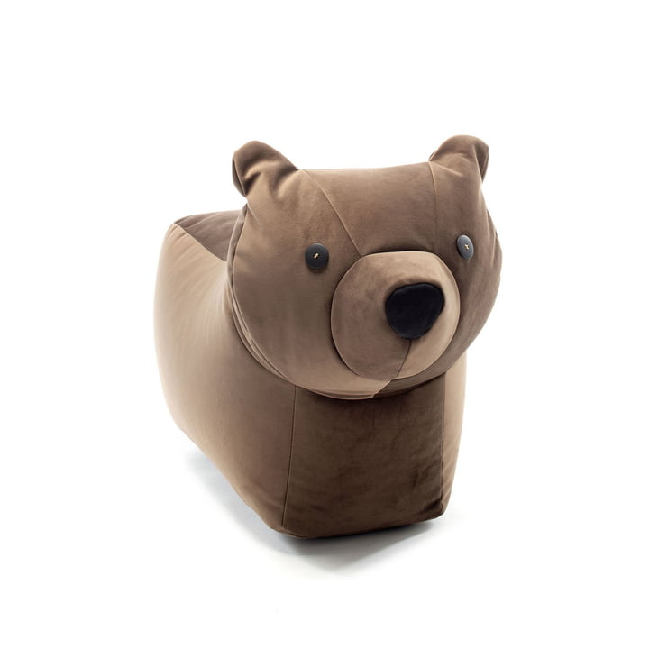 The Happy Zoo play animal bear Browny from Sitting Bull , dark brown