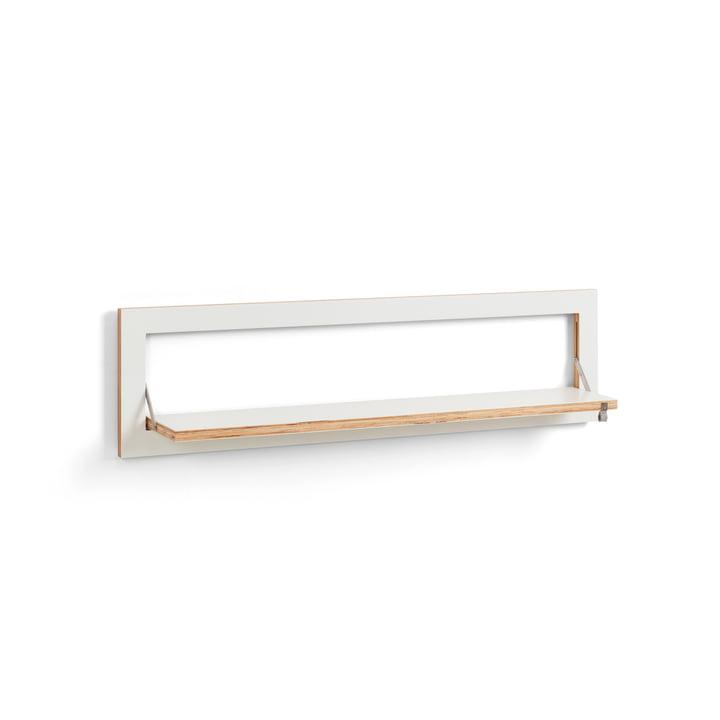 Fläpps Shelf 100 x 27 cm with one shelf from Ambivalenz in white