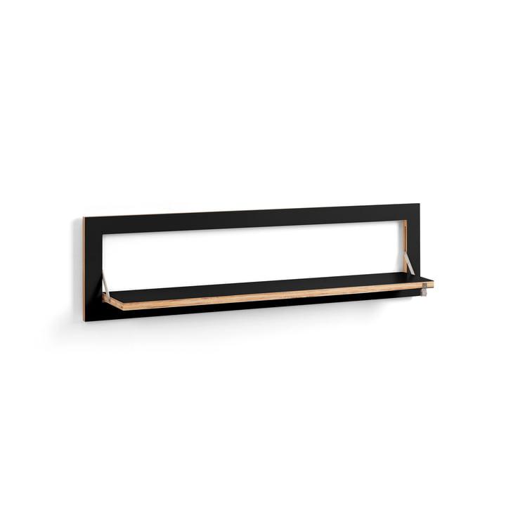 Fläpps Shelf 100 x 27 cm with one shelf from Ambivalenz in black