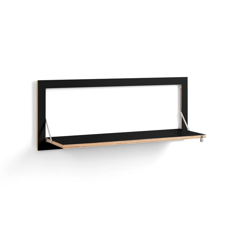 Fläpps Shelf 100 x 40 cm with one shelf from Ambivalenz in black