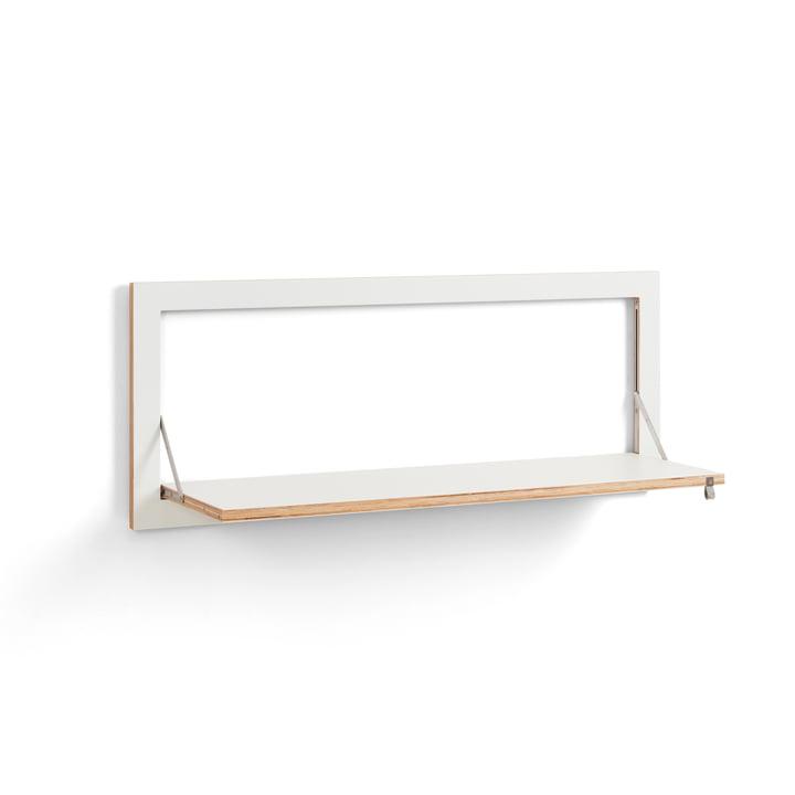 Fläpps Shelf 100 x 40 cm with one shelf from Ambivalenz in white