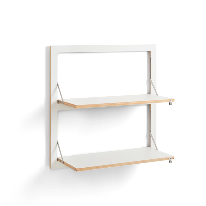 Fläpps Shelf 80 x 80 cm with 2 shelves from Ambivalenz in white